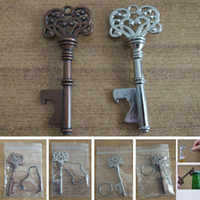 Vintage Keychain Openers For Beer Bottle Metal Coca Can Opening Tool With Ring And Chain Line Kitchen Bar Tool HH7-984