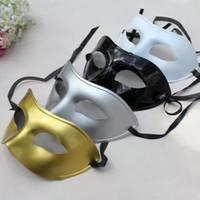 Factory Directe Heren Half Gezicht Painting Flat Head Painted Mask Gentleman Jazz Halloween Mask