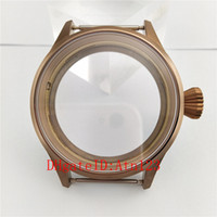 43mm Sapphire Glass Stainless Steel Bronze Wrist Watch Case ...