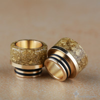 810 Thread 24K Gold Plated 304 SS & Resin Drip Tip Ecig Acce...