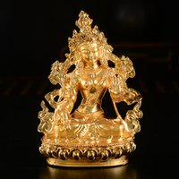 Tibetan Buddhism Supplies Wholesale Gold- plated Tantric Smal...