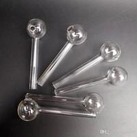 110mmグレートパイレックス厚い澄んだガラスオイルバーナークリアガラスチューブオイルの燃焼パイプ一握りのパイプ水管ハンドパイプ