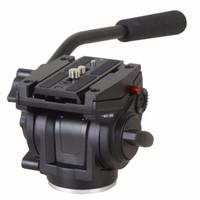 """Freeshipping Liga De Alumínio Da Câmera Fluido Amortecimento Cabeça Para Câmera SLR Tripé Stand Com UNC 1/4 """"3/8"""" Camera Thread"""