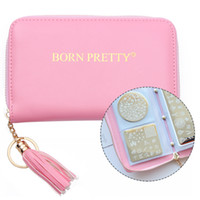 BORN PRETTY Nail Stamping Plate Holder Case Round Square Rec...