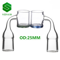 DHL Colorful Bottom Quartz Banger Domeless Nail With 10mm14m...
