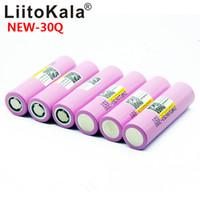 LIITOKALA 100% novo original para INR 18650 INR18650 30Q Bateria 3.7V 3000mAh Li-ion recarregável baterias