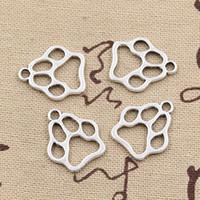 100 sztuk Charms Dog Bear Paw 19 * 17mm Antique Making Wisiorek Fit, Vintage Tybetański Silver, DIY Naszyjnik Bransoletka