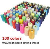 3000 yardas / piezas de hilo de coser de alta velocidad hilo de coser de poliéster tipo línea manual 402-hilo de bordar envío gratis