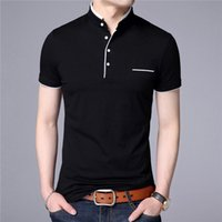 Summer men' s short- sleeved shirts slim down with a cott...