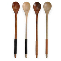 Delicate wood honey stirring spoon long handle condiment jam...
