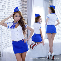 exy Stewardess Costume Cosplay Airline Flight Sexy Lingerie ...