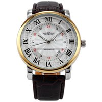 New WINNER Classic White Dial Gold Case Rome Number Auto Aut...