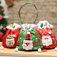 Merry Christmas Santa Sack Gift Presents Bag Christmas Snowm...