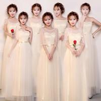행사 사회자 주니어 신부 들러리 드레스 홈 커밍 댄스 파티 칵테일 파티 성능 발목 길이는 우아한 롱 드레스 가운