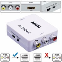 Mini AV à HDMI convertisseur composite AV RCA à HDMI Video Converter adaptateur Full HD 720 / 1080p UP Scaler AV2HDMI pour HDTV Standard TV / moniteur