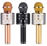 WS-858 inalámbrico Bluetooth Karaoke micrófono de mano USB KTV Player micrófono Bluetooth Micrófono de grabación de música