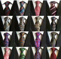 185 Estilos 8 cm Hombres Lazos de seda Moda para hombre Corbatas Cuello Tíbito Hecho A Mano Tarito Negocio Inglaterra Paisley Tie Rayas Plaids Dots Necktie