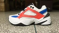 2018 New WMNS M2K Tekno Red White Old Dad Sports Running Sho...