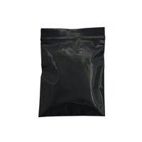 RESEALABLE Petite Pochette Noir Pouch-Pouch Sac Loc en Plastique Plastique Plafond Grip Zip Sceau de détail Sac à glissière pour emballage 500pcs / Lot Zip Klac