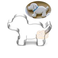 10pcs mini dog puppy Metal Cookie Cutter cartoon Fondant Cak...
