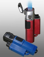 Refillable Butane Windproof 4 Torches quad Torch lighter Blu...