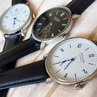 NOMOS Watches Brand men and women Minimalist design Leather ...