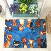 Japanese Cartoon Doormat Lovely Cat Padded Mattress Entrance Door Carpet Bedroom Bedside Mat 1pcs Children's Room Cartoon Carpet Kitchen Rug