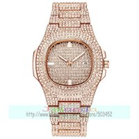 50pcs lot luxury lady full crystal watch wrap quartz casual ...
