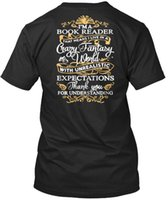 Book Reader Expectations T- shirt Élégant 2018 fashion 100% c...