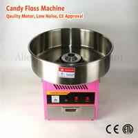 Elektrikli Pamuk Şeker Makinesi Ticari Şeker Ipi Makinesi 52 cm Paslanmaz Çelik Kase Pembe Renk Çekmece ile 220 V 1030 W