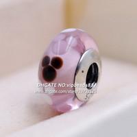 S925 стерлингового серебра модные ювелирные изделия розовый звериный портрет из муранского стекла подвески шарики подходят европейские пандора DIY браслеты ожерелье