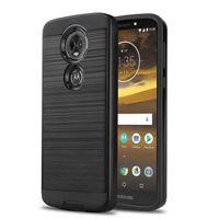 Hybride Armor Brushed Cases voor Motorola Moto E6 G7 E5 Plus Play Go X5 G6 G5 S E4 Plus X-stijl