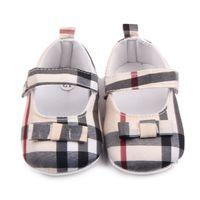 Chaussures bébé Spring Soft Sole Sole Girl Coton Premiers Walkers Fashion Bébé Filles Chaussures Butterfly-Knot Première Sole Sole Kids Shoes
