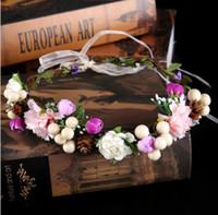 Невеста свадебный цветок венок головной убор глава кольцо обруч моделирования аксессуары