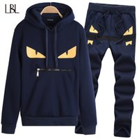 2018 Sportsuit MenTracksuit Sweat Suit Casual Solid Hoodies sudadera Mens Set Jogger Suits Hip Hop Hoodie Marca Conjuntos de ropa