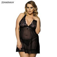 Hot Sexy Lingerie Lace Dress Sexy Womens Underwear per Sex Costumes per le donne Plus Size Abbigliamento esotico XL XXL 3XL 4XL 5XL 6XL Y18102206