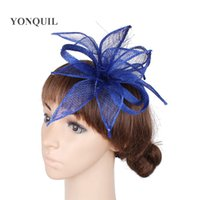 ef8843a8ba911 Wholesale royal blue fascinator online - Royal blue or colors wedding  ladies hats fascinators feather hair