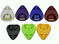Portable Case Plastique Guitare Médiator Plectre Holder Case Box