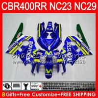 ホンダ用キットCBR400 RR NC23 CBR400RR 88 89 90 91 92 93 80hm.2 CBR 400 RR NC29 CBR 400RR Movistar Blue 1988 1989 1990 1991 1993フェアリング