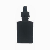 En gros 1 oz bouteille de verre carrée, verre e liquide flacon compte-gouttes bouteille d'huile essentielle, flacon compte-gouttes de verre 30 ml