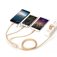 3 in 1 Metal USB Cable 1. 2M Braided USB Charging Cable For T...