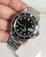 BP 공장 최신 버전 116610 빈티지 럭셔리 시계 40mm 블랙 다이얼 아시아 2813 무브먼트 자동 망 시계