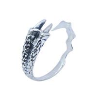 RanyRoy Новый Дизайн Стерлингового Серебра 925 Дракон Коготь Кольцо S925 Горячий Продавать Леди Девушки Мода Коготь Кольцо