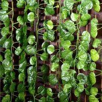 60 шт. 2.4 м лига плюща искусственный scindapsus aureus листья винограда Malus spectabilis винограда виноградных растений лозы дома украшения сада