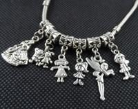 100Pcs / lot mischte Mädchen-Jungen-Charme-großes Loch Perlen baumeln Charme für die Schmucksachen, die Entdeckungen