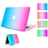 Gökkuşağı Sert Kauçuk Kılıf Kapak Koruyucu Için Apple Macbook Hava Pro Retina Ile 11 13 15 inç A1706 A1708 A1707