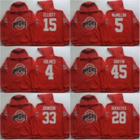 Männer Ohio State Buckeyes Coollege Jersey 97 Joey Bosa 12 C.JONES 16 BARRETT 1 B.Miller 15 Elliott Red Jerseys Hoodies Sweatshirts