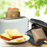 Sacchetto di pane della borsa di pane della borsa di pane antiaderente della borsa di tostapane Riutilizzabili strumenti della pasticceria di riscaldamento del forno a microonde di Toast della vetroresina