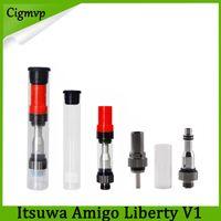 Itsuwa AMIGO Liberty V1 Pyrex 유리 분무기 510 실 Wee Vaporizer Vape 펜 E 담배 BUD Touch Wee 금속 팁 카트리지 0266174