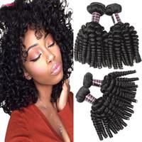 Sıcak Satmak 8A Brezilyalı Saç Afro Kinky Kıvırcık 4 Demetleri Toptan Ucuz Perulu Malezya Bouny Kıvırcık Saç 100% İnsan Saç Ücretsiz Nakliye